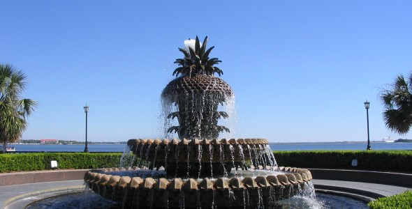 Charleston-SC-pineapple-fountain